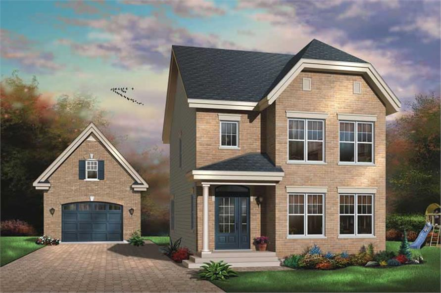 3-Bedroom, 1501 Sq Ft Country House Plan - 126-1585 - Front Exterior