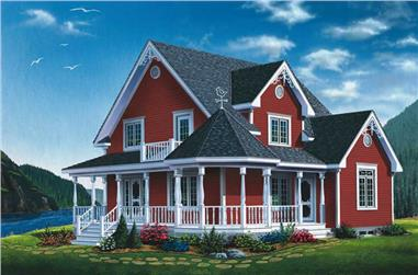 3-Bedroom, 1798 Sq Ft Country Home Plan - 126-1587 - Main Exterior