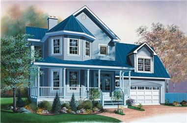 3-Bedroom, 1826 Sq Ft Country Home Plan - 126-1588 - Main Exterior