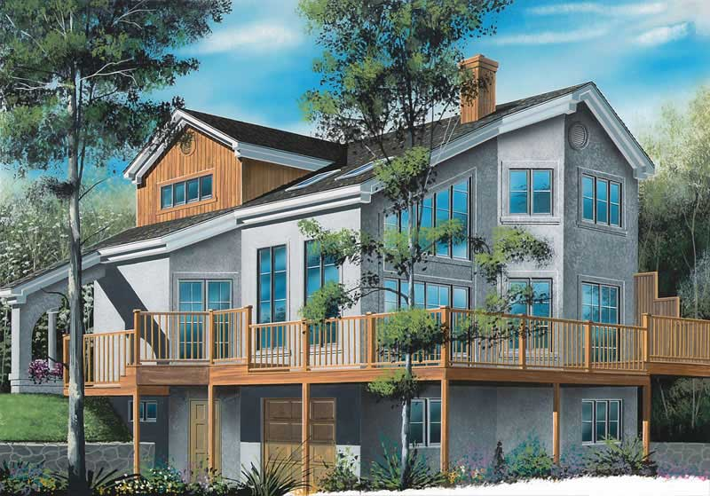 Beachfront, Vacation Homes, Contemporary House Plans