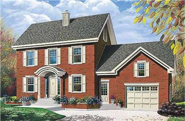 3-Bedroom, 1889 Sq Ft Traditional House Plan - 126-1593 - Front Exterior