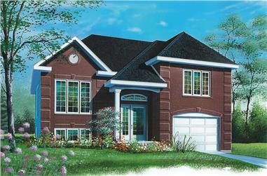 2-Bedroom, 1012 Sq Ft Ranch House Plan - 126-1594 - Front Exterior