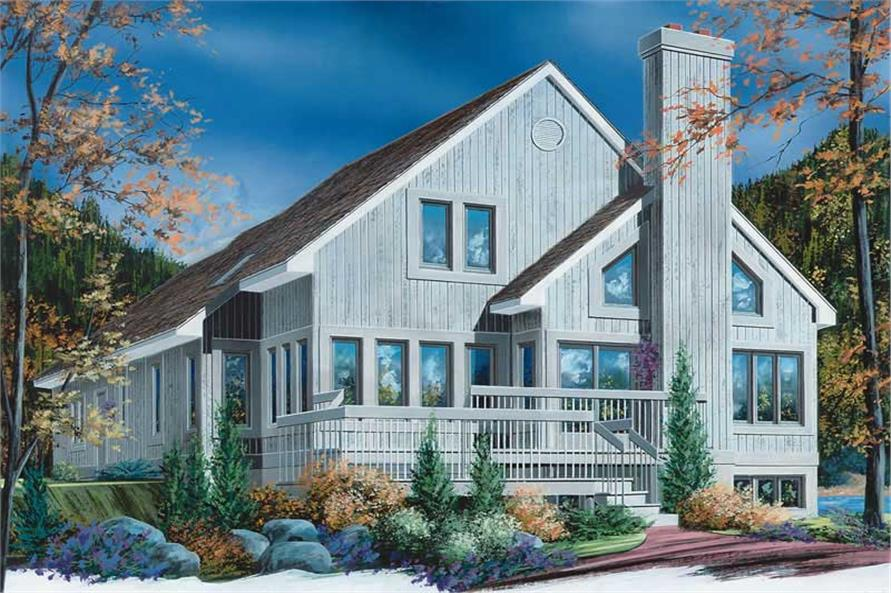 3-Bedroom, 2162 Sq Ft Coastal Home Plan - 126-1600 - Main Exterior