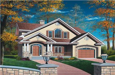 3-Bedroom, 1669 Sq Ft Contemporary Home Plan - 126-1602 - Main Exterior