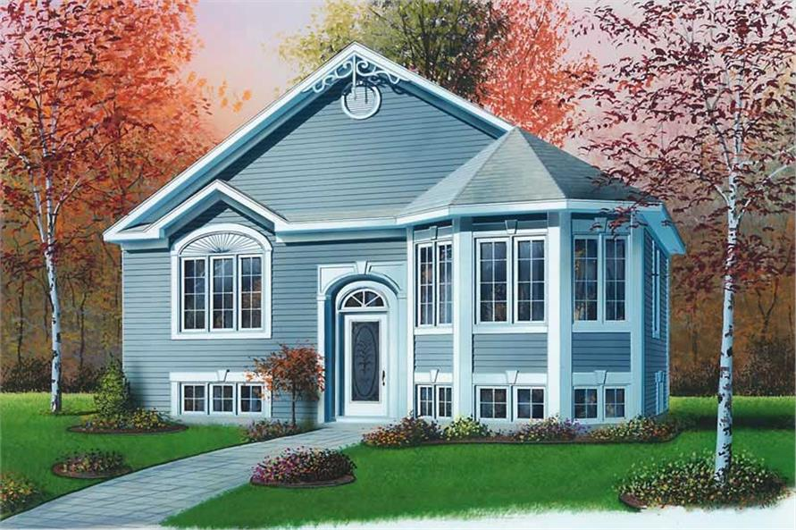 2-Bedroom, 991 Sq Ft Bungalow Home Plan - 126-1604 - Main Exterior