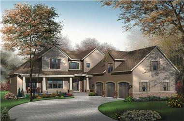 4-Bedroom, 3136 Sq Ft Contemporary House Plan - 126-1608 - Front Exterior