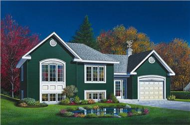 2-Bedroom, 901 Sq Ft Ranch Home Plan - 126-1612 - Main Exterior