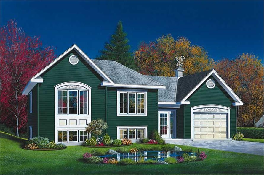 2-Bedroom, 901 Sq Ft Ranch Home Plan - 126-1612 - Main Exterior