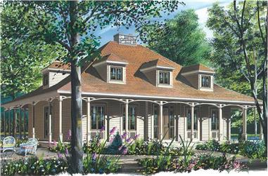 3-Bedroom, 2299 Sq Ft Country House Plan - 126-1613 - Front Exterior