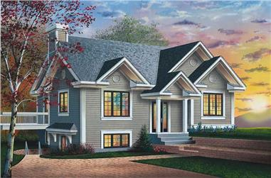 3-Bedroom, 1067 Sq Ft Ranch House Plan - 126-1617 - Front Exterior