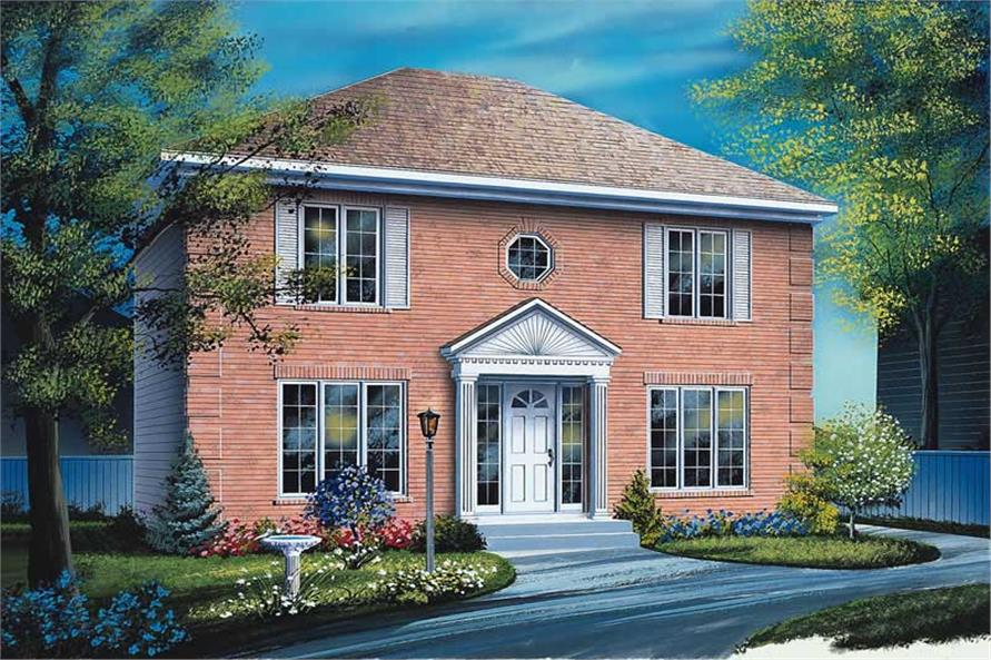 3-Bedroom, 1666 Sq Ft Traditional Home Plan - 126-1618 - Main Exterior