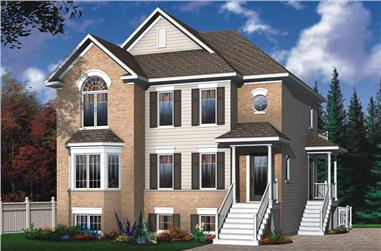 2-Bedroom, 3011 Sq Ft Traditional House Plan - 126-1621 - Front Exterior