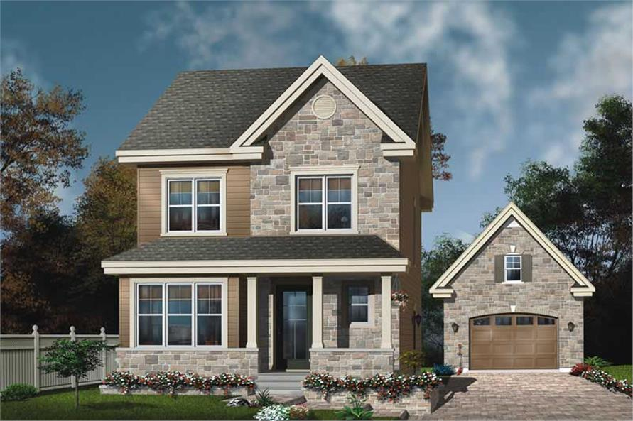 3-Bedroom, 1430 Sq Ft Country House Plan - 126-1622 - Front Exterior