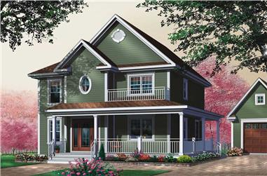 3-Bedroom, 1678 Sq Ft Country Home Plan - 126-1624 - Main Exterior