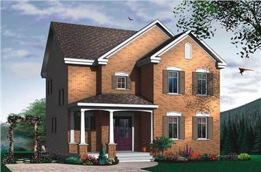 3-Bedroom, 1512 Sq Ft European Home Plan - 126-1628 - Main Exterior