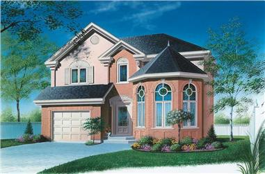 3-Bedroom, 1773 Sq Ft Victorian House Plan - 126-1630 - Front Exterior