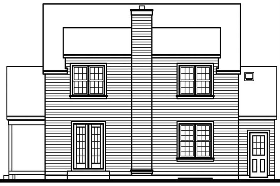 Home Plan Rear Elevation of this 3-Bedroom,1751 Sq Ft Plan -126-1631