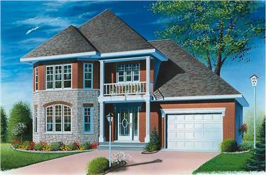 3-Bedroom, 1408 Sq Ft Contemporary House Plan - 126-1632 - Front Exterior
