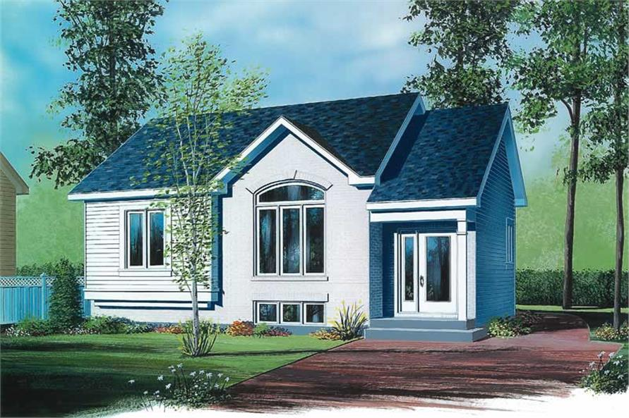2-Bedroom, 940 Sq Ft Ranch Home Plan - 126-1633 - Main Exterior