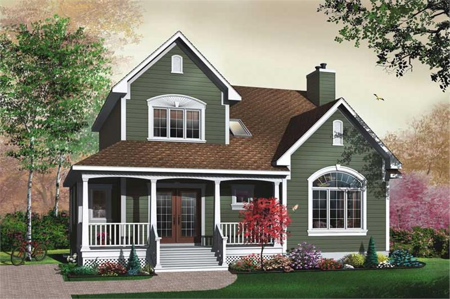 3-Bedroom, 1888 Sq Ft Farmhouse Home Plan - 126-1634 - Main Exterior