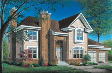 4-Bedroom, 4075 Sq Ft European House Plan - 126-1635 - Front Exterior