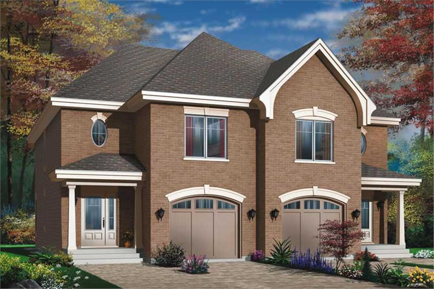 3-Bedroom, 3188 Sq Ft European House Plan - 126-1638 - Front Exterior