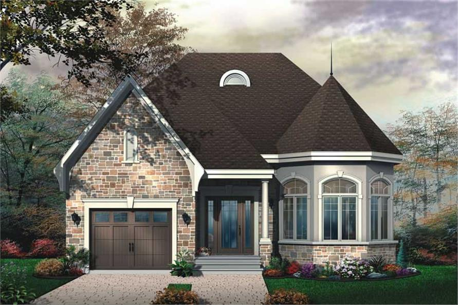 2-Bedroom, 1246 Sq Ft Bungalow House Plan - 126-1642 - Front Exterior