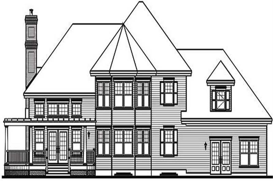 Home Plan Rear Elevation of this 3-Bedroom,2659 Sq Ft Plan -126-1644