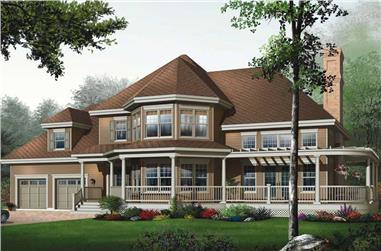 3-Bedroom, 2659 Sq Ft Coastal Home Plan - 126-1644 - Main Exterior