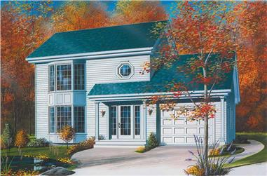3-Bedroom, 1436 Sq Ft Small House Plans - 126-1645 - Front Exterior
