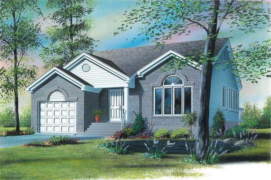 2-Bedroom, 1145 Sq Ft Bungalow House Plan - 126-1649 - Front Exterior