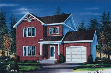 3-Bedroom, 1623 Sq Ft Traditional House Plan - 126-1651 - Front Exterior