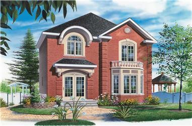 3-Bedroom, 1458 Sq Ft European Home Plan - 126-1656 - Main Exterior
