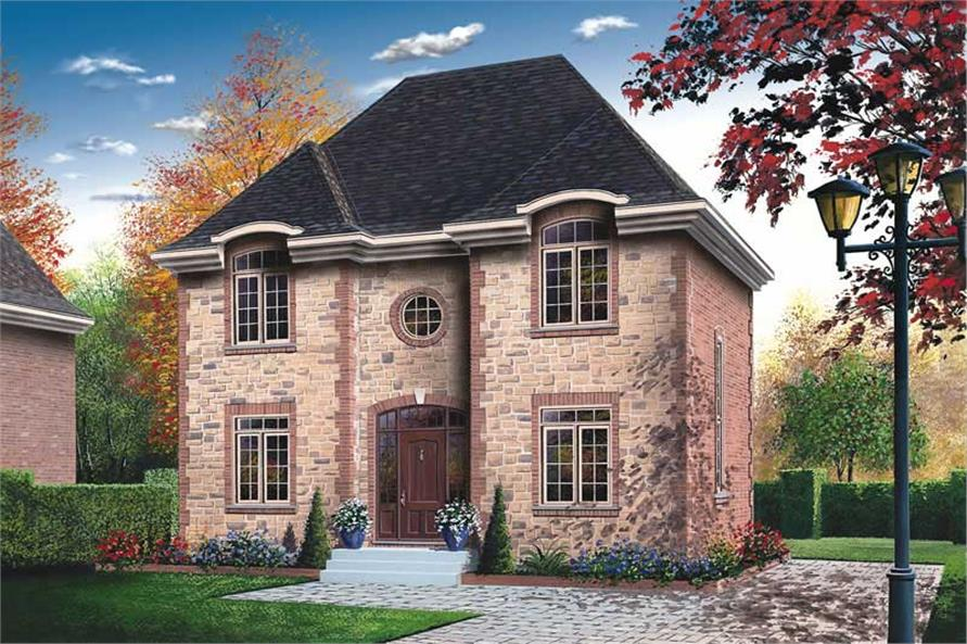 3-Bedroom, 1650 Sq Ft Country Home Plan - 126-1657 - Main Exterior