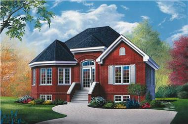 2-Bedroom, 1098 Sq Ft Bungalow House Plan - 126-1666 - Front Exterior