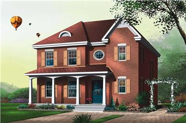 3-Bedroom, 1680 Sq Ft Traditional Home Plan - 126-1668 - Main Exterior