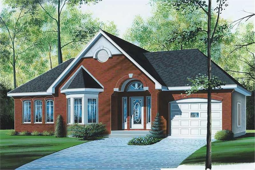 3-Bedroom, 1250 Sq Ft Ranch House Plan - 126-1670 - Front Exterior