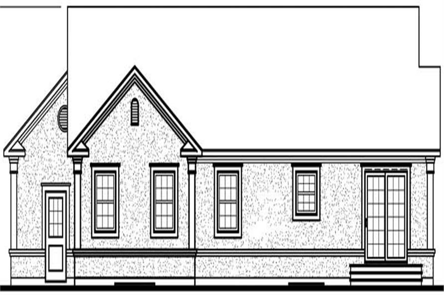 Home Plan Rear Elevation of this 3-Bedroom,1494 Sq Ft Plan -126-1680