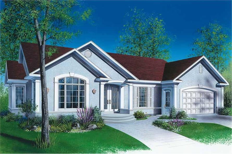 3-Bedroom, 1494 Sq Ft Ranch Home Plan - 126-1680 - Main Exterior