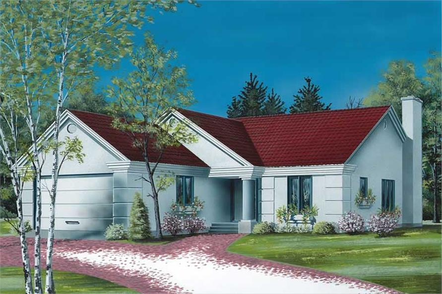 3-Bedroom, 1426 Sq Ft Bungalow Home Plan - 126-1681 - Main Exterior