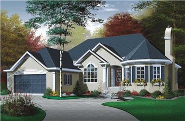 2-Bedroom, 1572 Sq Ft Ranch House Plan - 126-1683 - Front Exterior