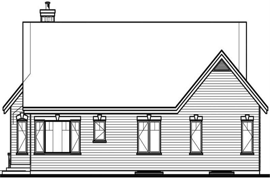 Home Plan Rear Elevation of this 2-Bedroom,1548 Sq Ft Plan -126-1684