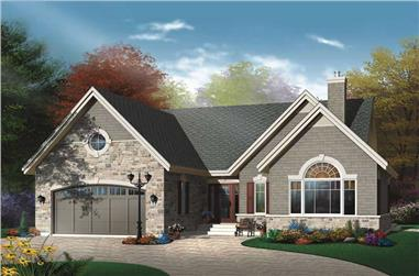 2-Bedroom, 1548 Sq Ft Ranch House Plan - 126-1684 - Front Exterior