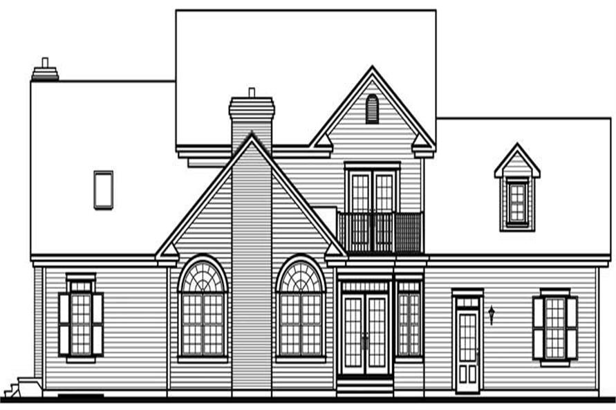 Home Plan Rear Elevation of this 4-Bedroom,4183 Sq Ft Plan -126-1685
