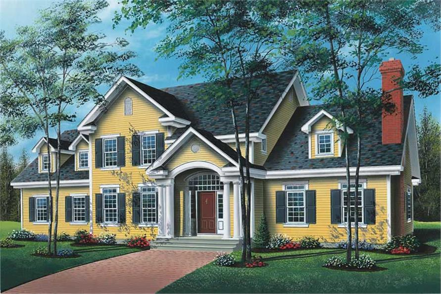 4-Bedroom, 4183 Sq Ft Luxury Home Plan - 126-1685 - Main Exterior