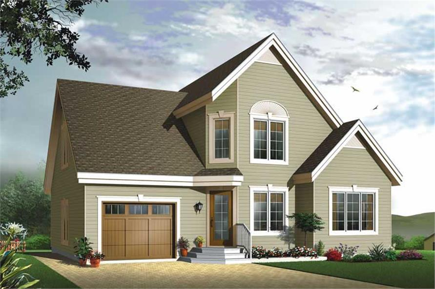 3-Bedroom, 1495 Sq Ft Country House Plan - 126-1687 - Front Exterior