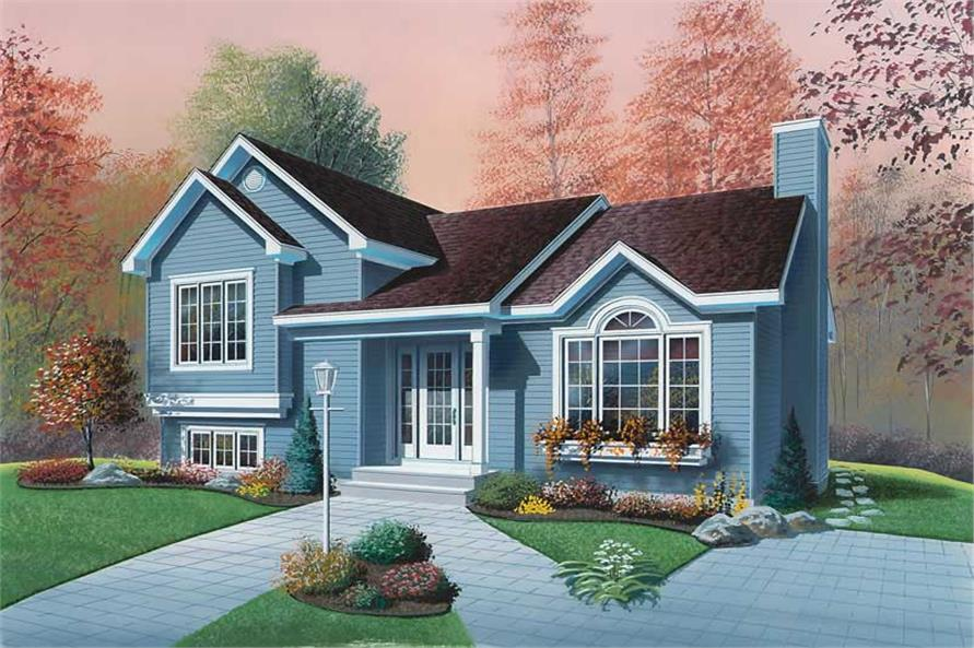 3-Bedroom, 1595 Sq Ft Ranch Home Plan - 126-1691 - Main Exterior