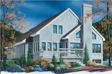 3-Bedroom, 2162 Sq Ft Contemporary House Plan - 126-1694 - Front Exterior
