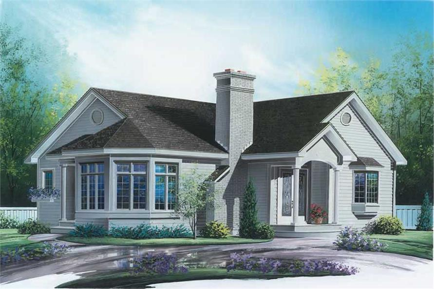 3-Bedroom, 1347 Sq Ft Bungalow Home Plan - 126-1701 - Main Exterior