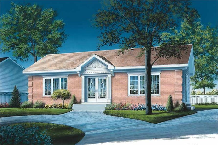 2-Bedroom, 1064 Sq Ft Ranch House Plan - 126-1706 - Front Exterior